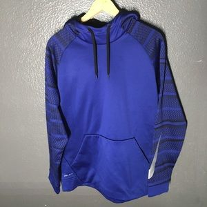 Nike Dri Fit Blue Patterned Mens Hoodie